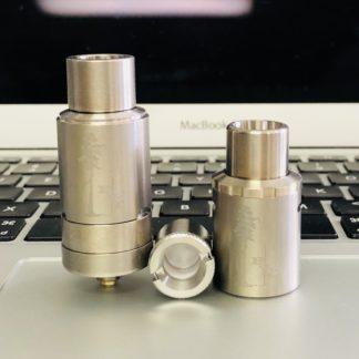 Titanium Sai Atomizer, Titanium Top Airflow Cap, quartz bucket coil